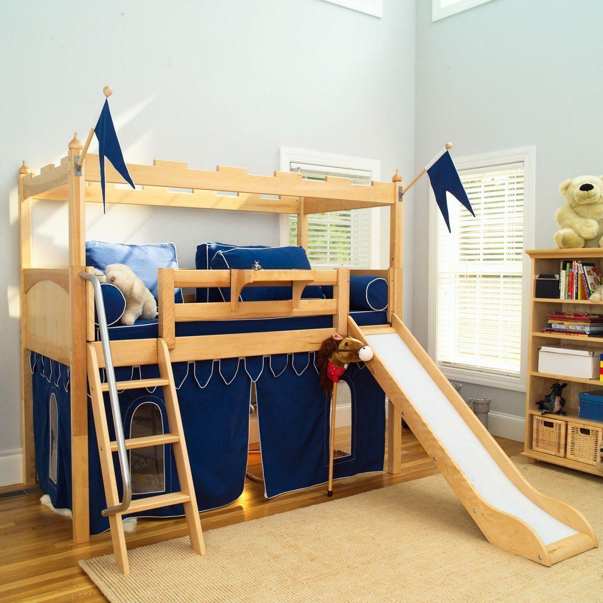 Bed beside window ideas  bedroom marvelous fun bunk beds with sweet slide beside wood stair