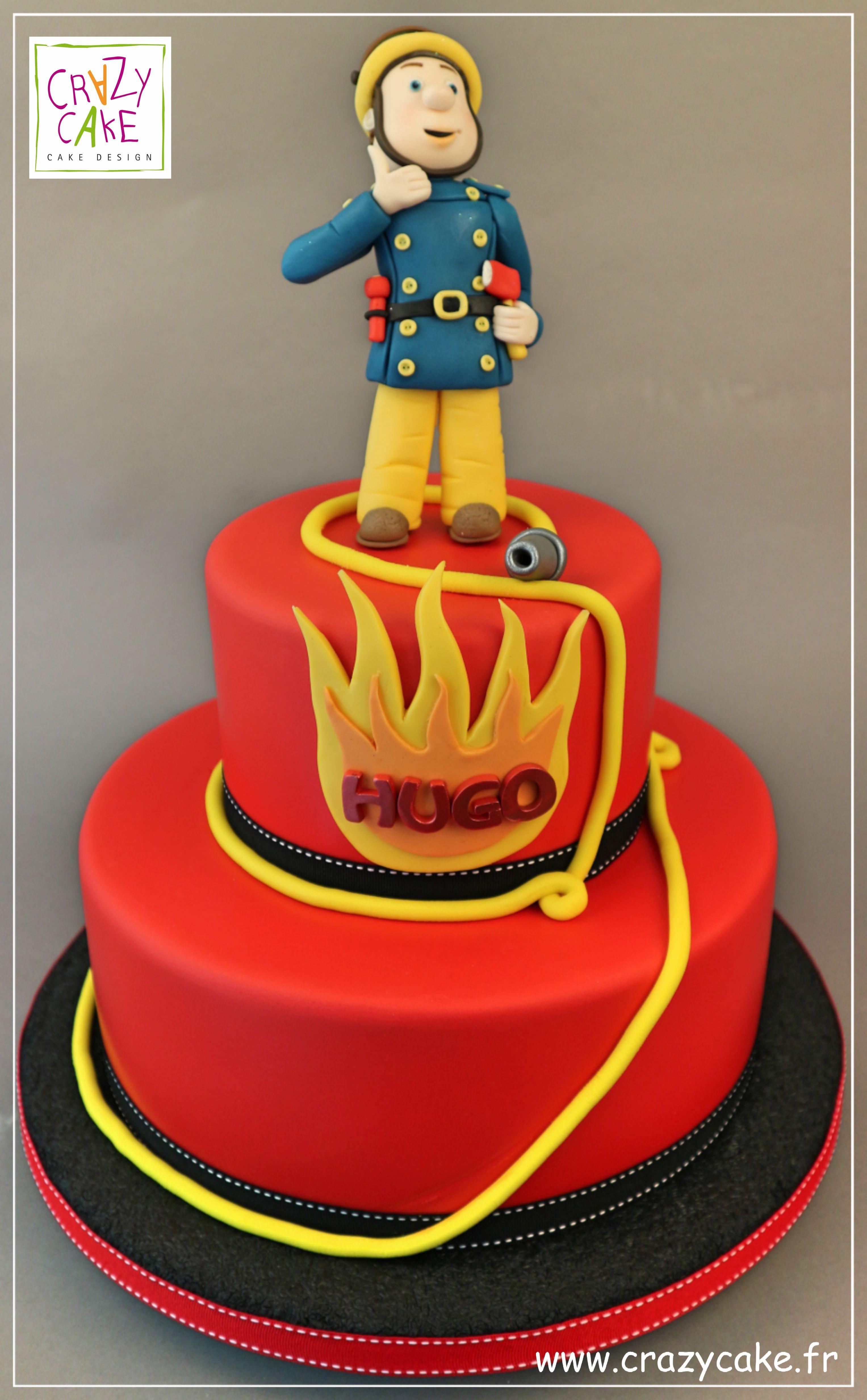 Sam Le Pompier By Crazy Cake Gateaux Fous Idee Gateau Sam Le Pompier