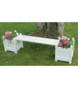 Excellent Vinyl Planter Bench With Planters Garden Com In 2019 Andrewgaddart Wooden Chair Designs For Living Room Andrewgaddartcom