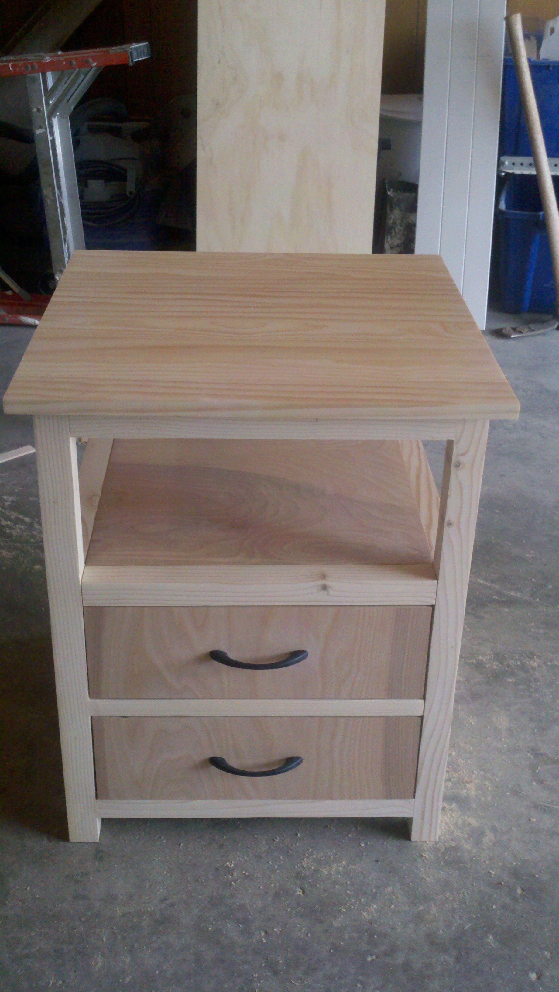 first nightstand do it yourself home projects from ana white bastelutensilien pinterest. Black Bedroom Furniture Sets. Home Design Ideas