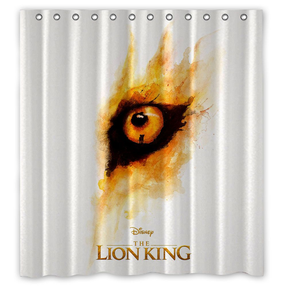 Lion King Movie Poster Custom Shower Curtain 100 Polyester In