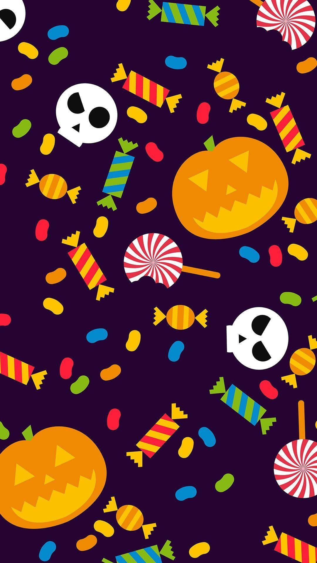 Halloween Candy Tap To See More Cute Haloween Iphone Image Wallpapers Mobile9 Kawaiihalloween Cu Android Wallpaper Iphone Wallpaper Halloween Backgrounds