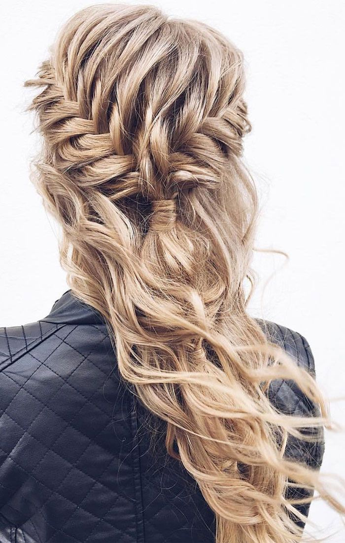 Beautiful Half Down Half Up Braided Hairstyle