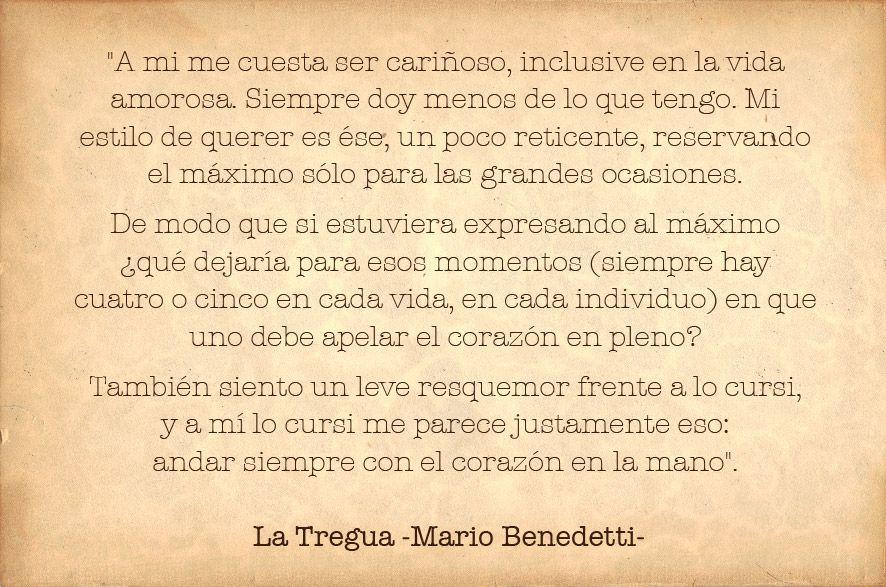 La Tregua Mario Benedetti Type And Phrases Pinterest Quotes