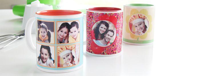Gekleurde fotomok - leuk als geschenk voor Moederdag - http://www.smartphoto.be/nl/producten/fotogeschenken/gekleurde-mok
