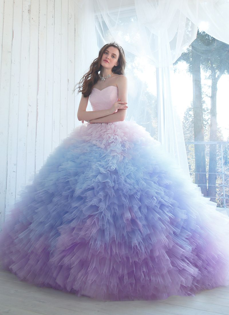 Amazing colors wedding gowns featuring unbelievably beautiful