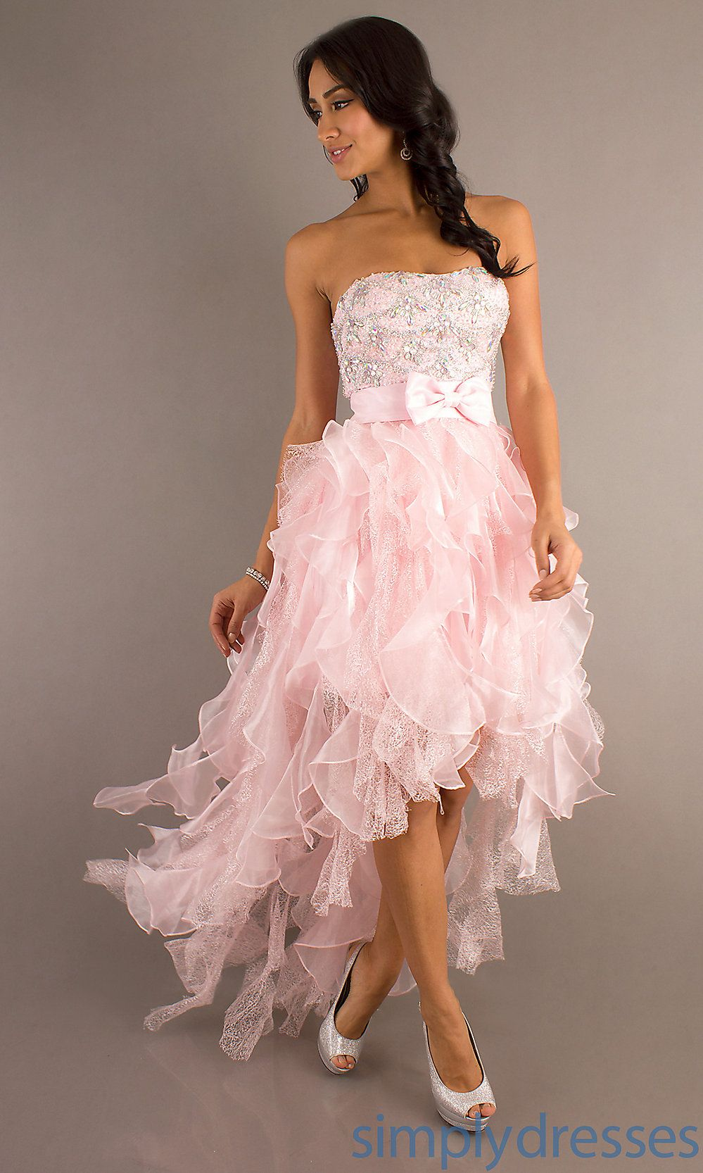 Pink High Low Prom Dress, Hi-Lo Dresses in Pink - Simply Dresses ...