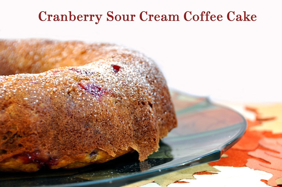 Cranberry Sour Cream Coffee Cake Recipe Sour Cream Coffee Cake Coffee Cake Recipes Coffee Cake