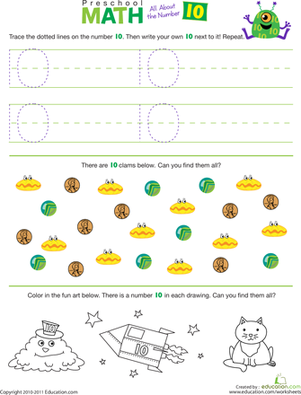1000+ images about Number 10 Worksheets on Pinterest | Free ...
