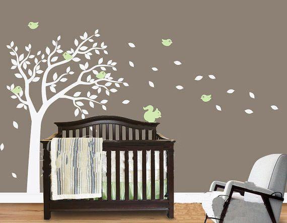Cute Squirrel Birds Tree Fit Baby Room Vinyl Wall Paper Decal Art Sticker T113 WallDcor