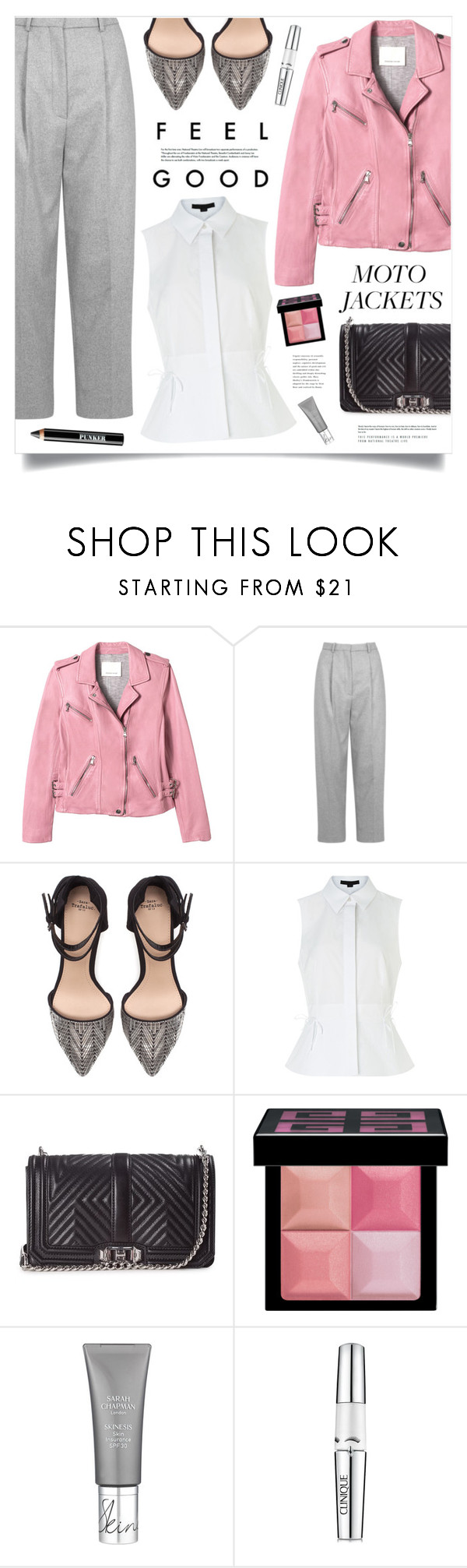 """""""Feel Good"""" by marina-volaric ❤ liked on Polyvore featuring Rebecca Taylor, Acne Studios, Zara, Alexander Wang, Rebecca Minkoff, Givenchy, Clinique, Ardency Inn and motojackets"""