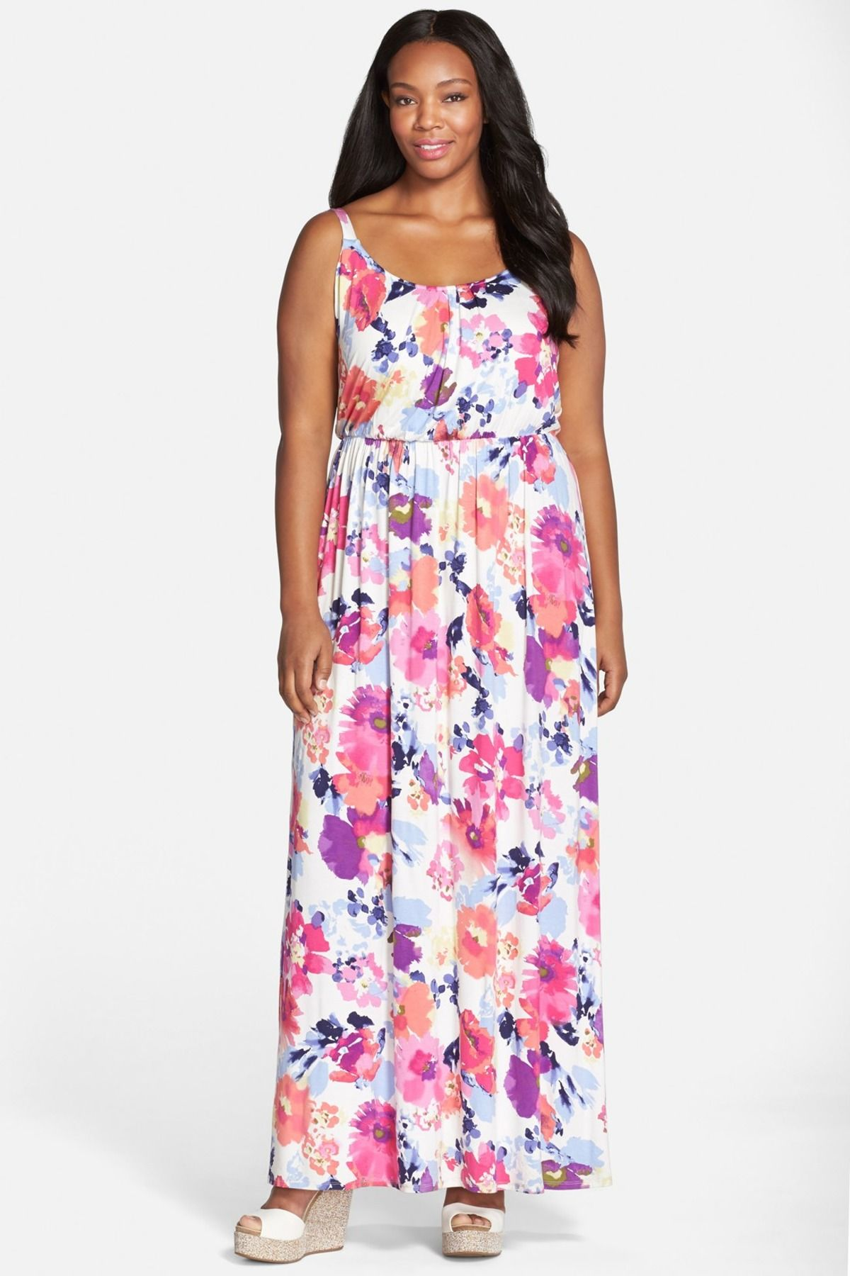a2c84f80a1d Felicity and Coco - Print Blouson Maxi Dress (Plus Size) at Nordstrom Rack.  Free Shipping on orders over  100.
