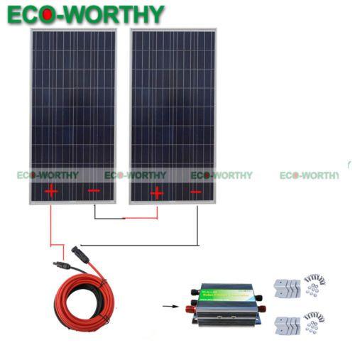 Eco 300w 24v Solar System 2pcs 160w Solar Panel W Solar Controller Chargr Home Solar Kit Solar System Kit Solar Charging