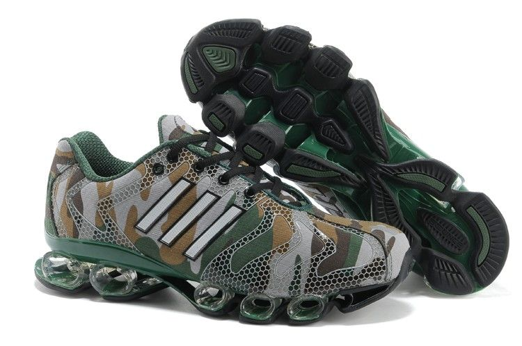 Adidas Bounce 8 Mens Camouflage Green Red Sport Running Shoes adidas  climacool Regular Price: $190.00