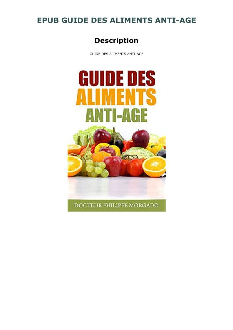 Epub Guide Des Aliments Anti Age Food Pops Cereal Box Anti Aging