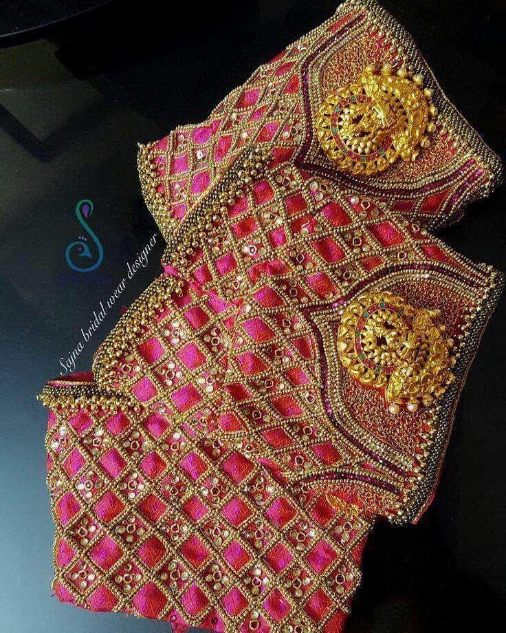 Photo of Beautiful Designer Magenta Custom Silk blouse