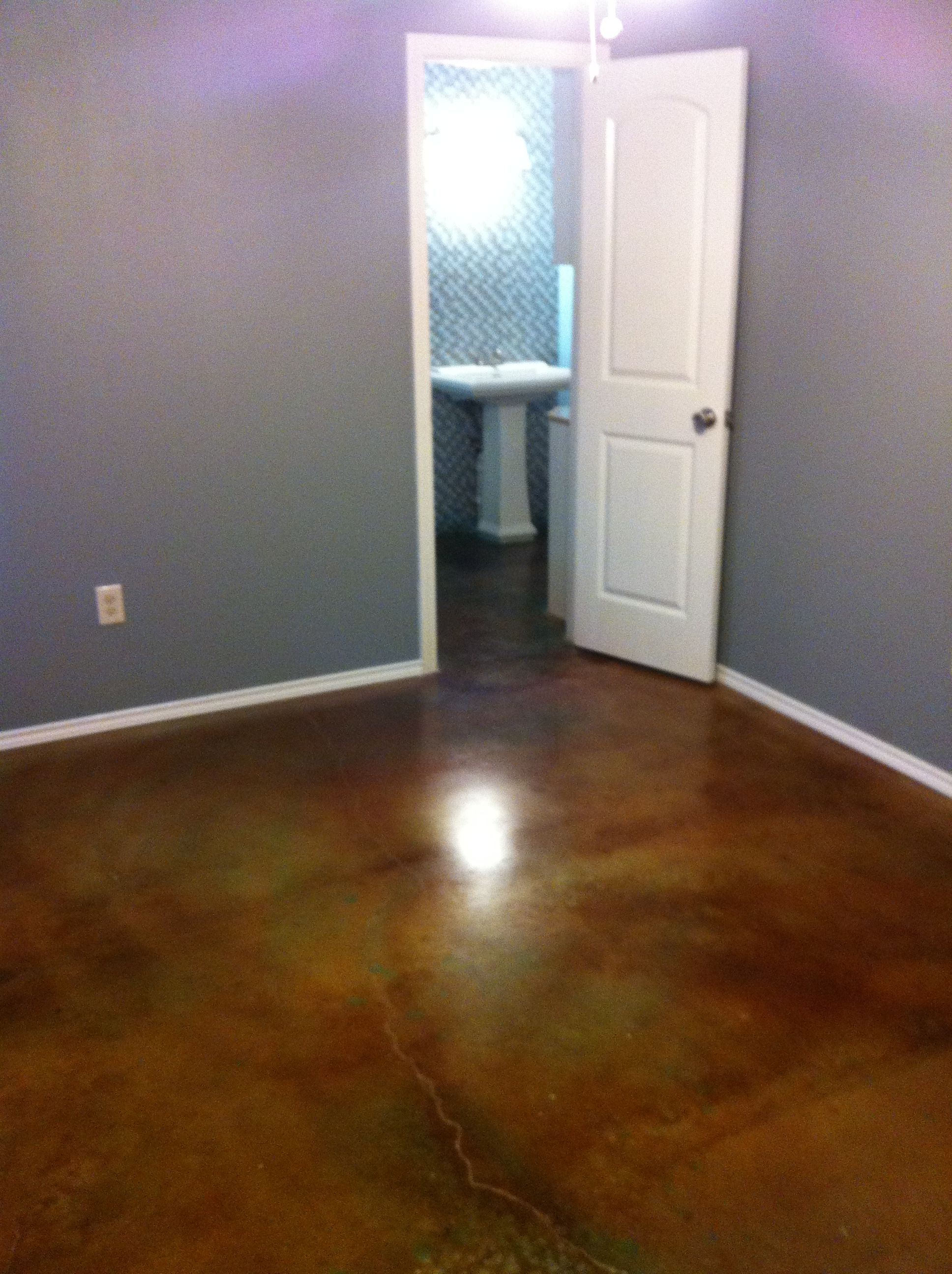 gallery floors concrete floor stained stain how to