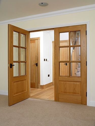Royale Traditional 12 6vm Oak Veneered Internal Door Internal Wooden Doors Oak Glazed Internal Doors Oak French Doors