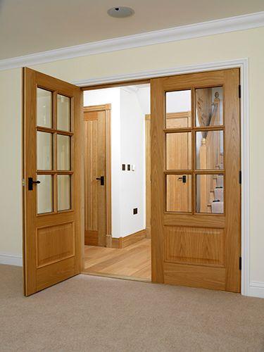Royale Traditional 12 6vm Oak Veneered Internal Door Internal Wooden Doors Oak Glazed Internal Doors Oak French Doors