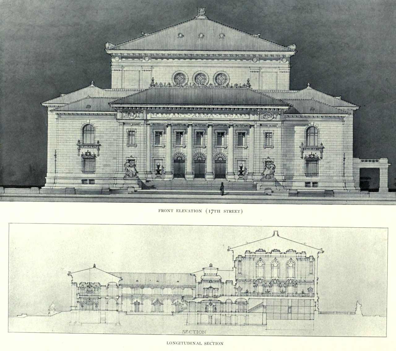 Click this image to show the full size version for Full size architectural drawings
