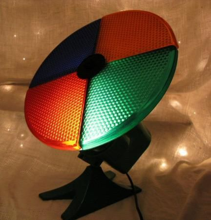 Vintage Motorized ROTATING Spinning COLOR WHEEL CHRISTMAS Tree LIGHT - Old Christmas Spinning Light Vintage Motorized ROTATING