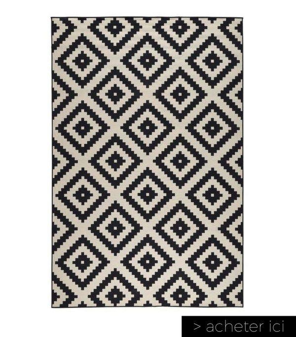 tapis ikea tapis noir et blanc ikea