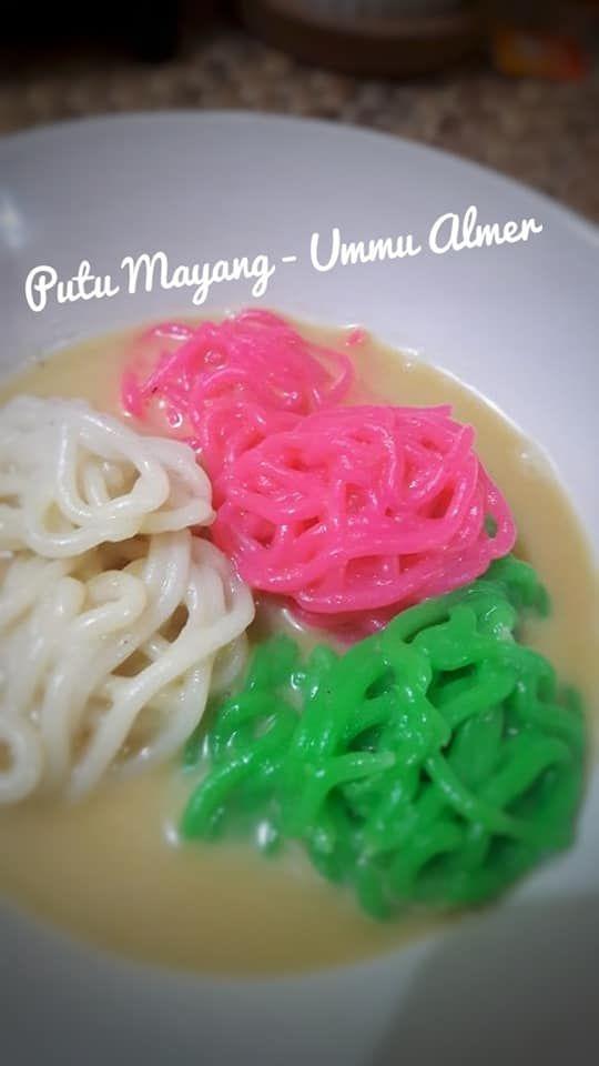 Putu Mayang By Ummu Almer Langsungenak Com Resep Resep Makanan India Pewarna Makanan Resep