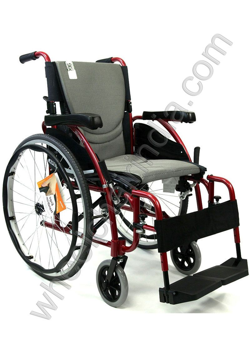 Ergonomic Wheelchair features wide arm pads for extra support, folding back rest, detachable swing-away footrests, and a Tube-in Center foot-plate that provides extra support for the leg muscles. Ergonomic wheelchairs provide a comfortable option for mobility impaired users who have the upper body strength to propel themselves, or a caregiver. Curved like an s shaped seating frame providing anti slippage support and comfort unmatched and also the upholstery