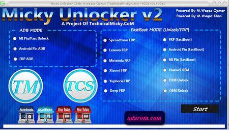 Micky Unlocker Tool V2 All Android FRP Lock Remove Tool 100