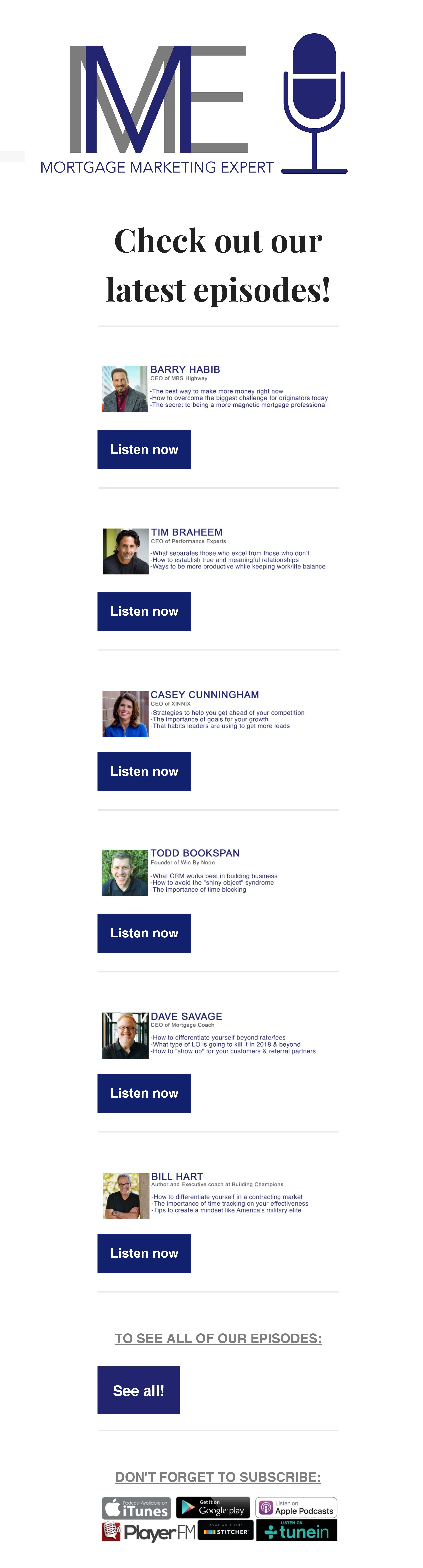 Check Out Our List Of Episodes Mortgage Mortgagemarketing Podcast Loanofficer Mortgageexpert Mortgagebroker Loanori With Images Mortgage Marketing Marketing Mortgage