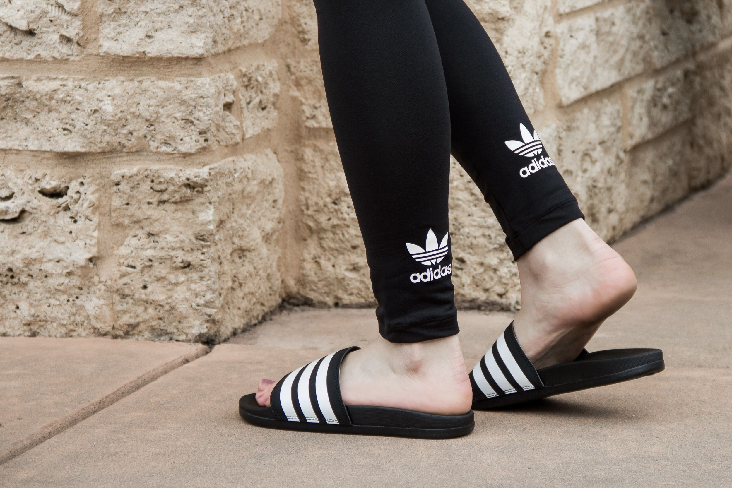 Adidas Adilette Cloudfoam Plus Slide AP9971 - Black White ... 32dbd2b96