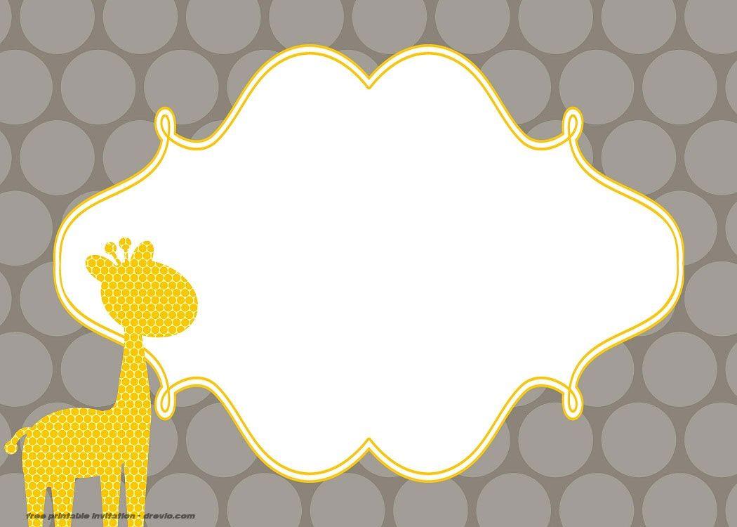 Free Giraffe Birthday And Baby Shower Invitation Templates Giraffe Baby Shower Invitations Giraffe Birthday Baby Shower Giraffe