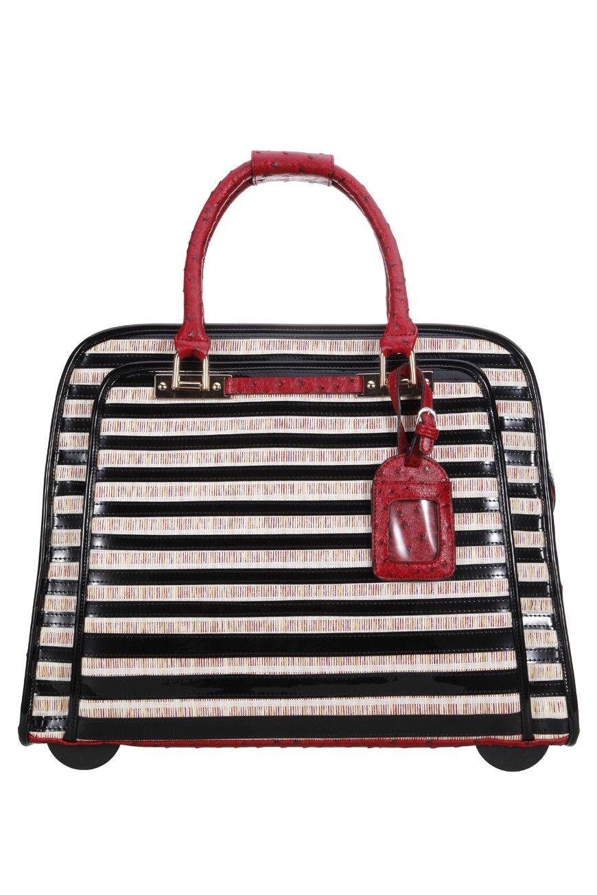 vera may travel bag overnight designer handbag carry on. Black Bedroom Furniture Sets. Home Design Ideas