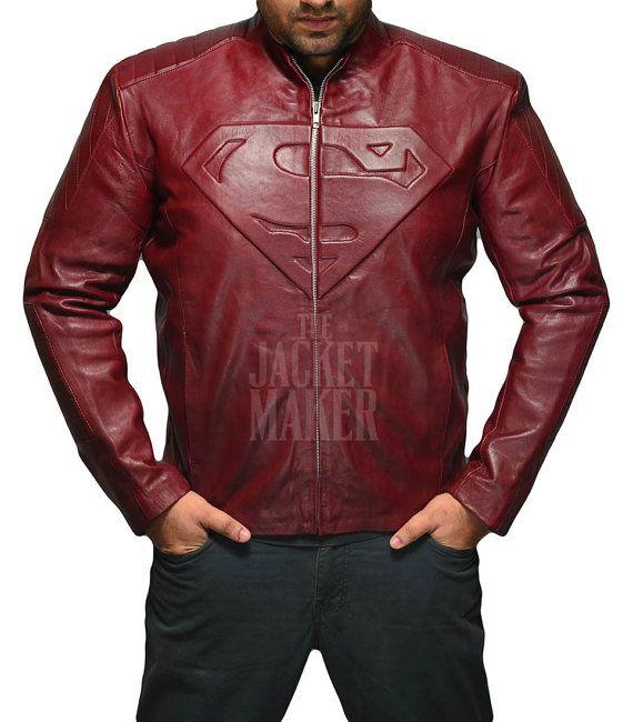 Superman Smallville Maroon Leather Jacket By Thejacketmaker Maroon Leather Jacket Maroon Leather Leather Jacket