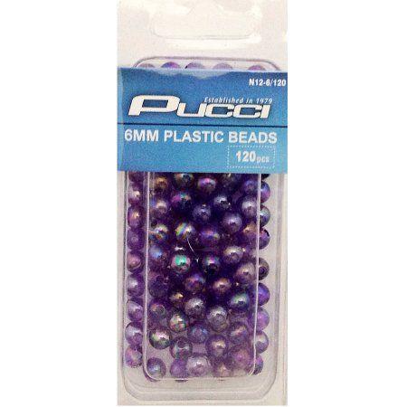 P-Line 6mm Beads Purple/Pearl