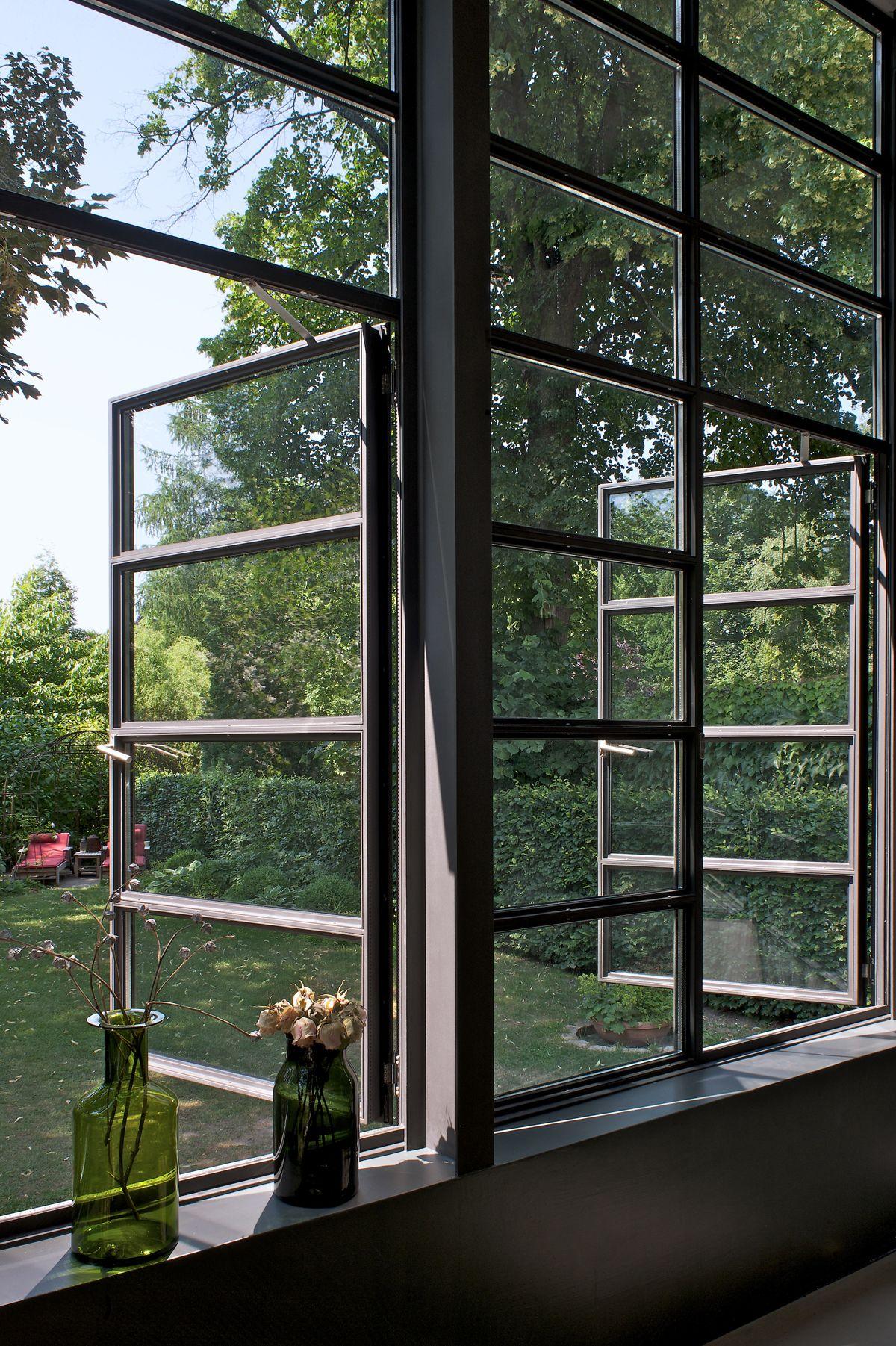 nach außen öffnende Fenster Anbau Esszimmer, Küche an