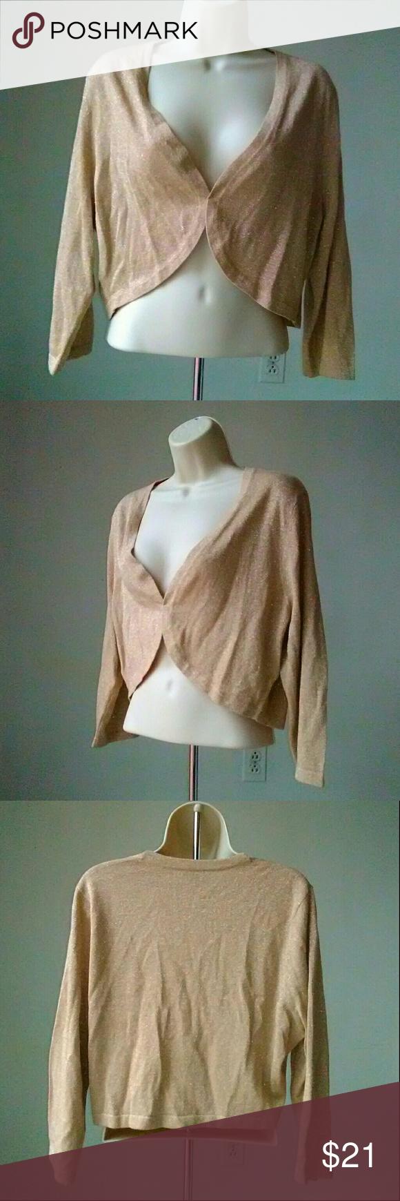 Ann Taylor Cardigan Shrug | Shrug sweater, Knit shrug and Metallic