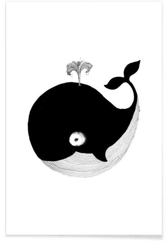 Illustration de bébé baleine affiche