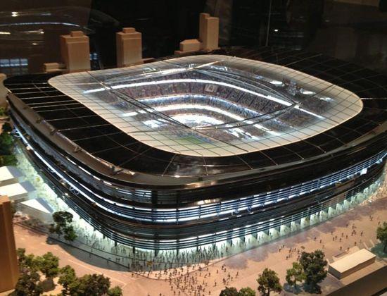 Maqueta 3 para la remodelaci n del estadio santiago for Estadio bernabeu puerta 0