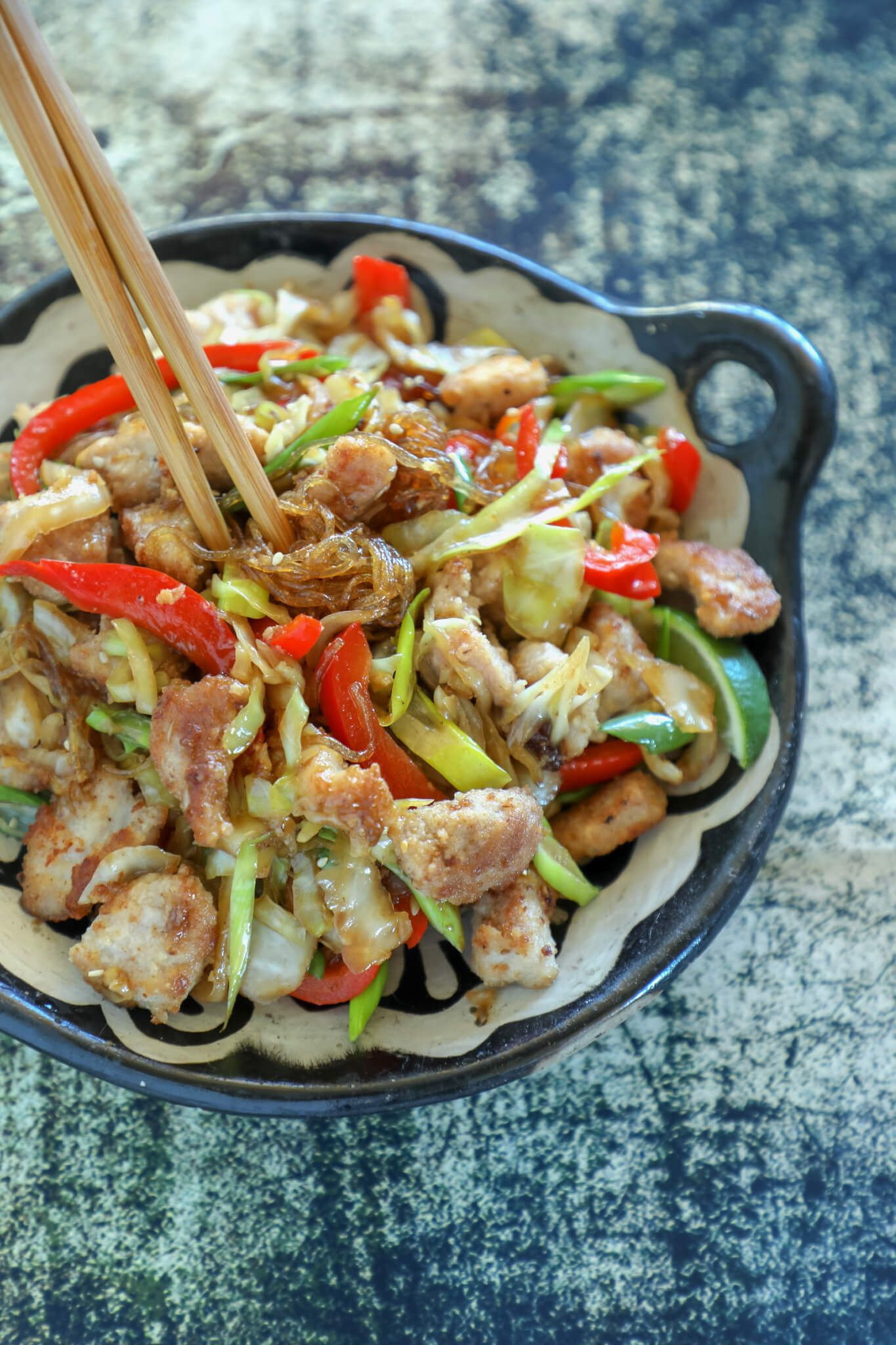 Keto Crispy Pork & Noodle Stir Fry - Low Carb