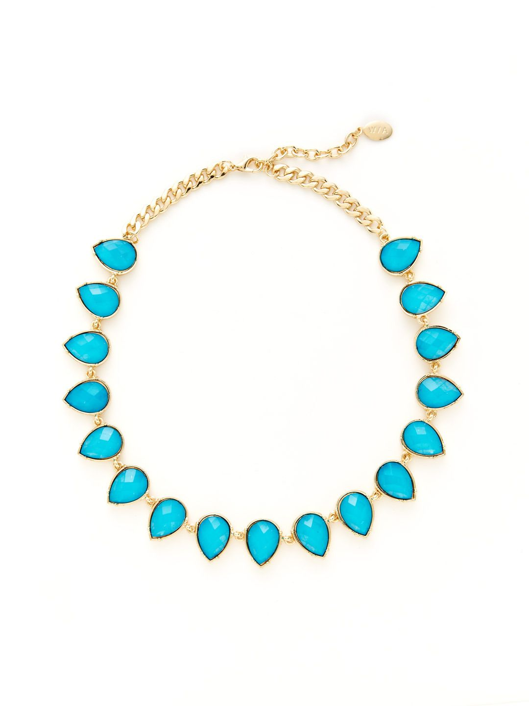 Teardrop Station Collar Necklace by W/A Studios at Gilt