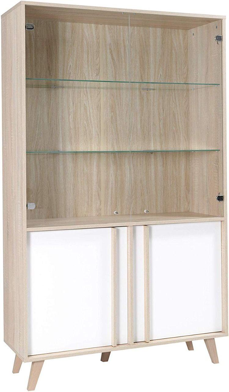 Armoire Vitra C E Avec Led Blanc Et Chaªne Cielterre Commerce En 2020 Armoire Vitree Rangement Vaisselle Armoire Rangement