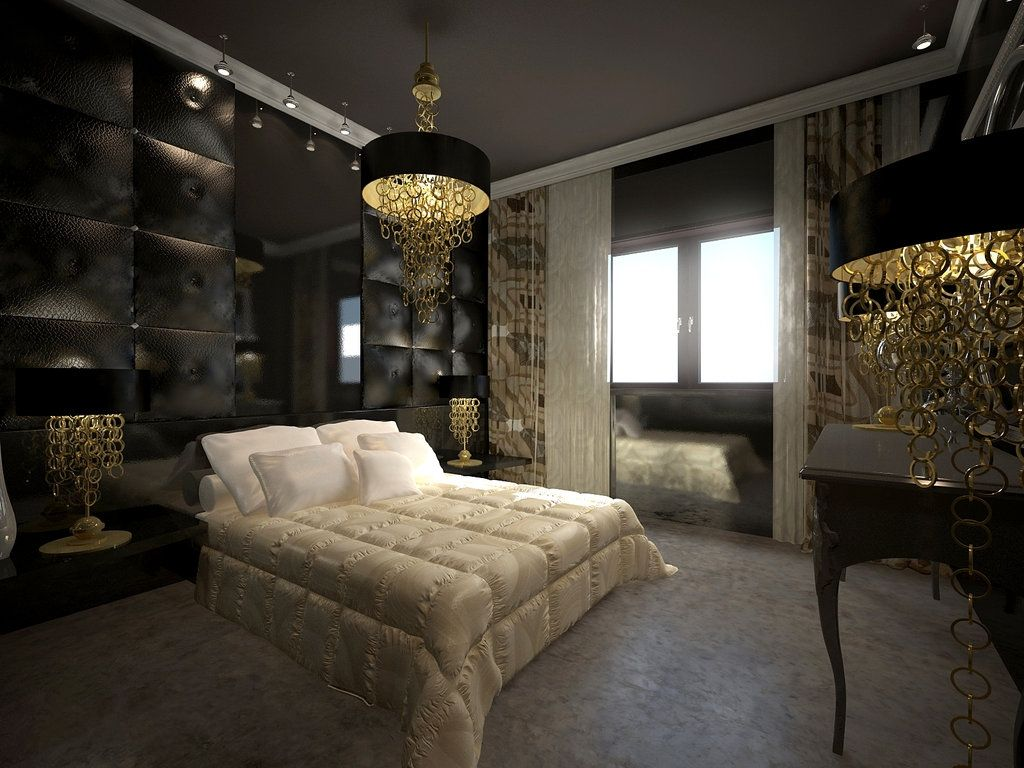 d co int rieur noir et dor d coration de chambre moderne noir et dor d co int rieur noir. Black Bedroom Furniture Sets. Home Design Ideas