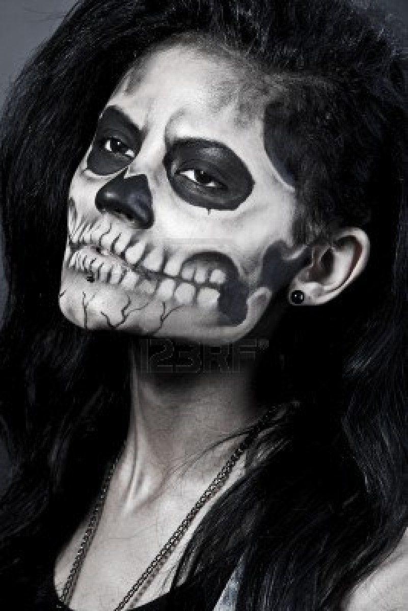makeup... half face? | Halloween | Pinterest | Face, Makeup and ...