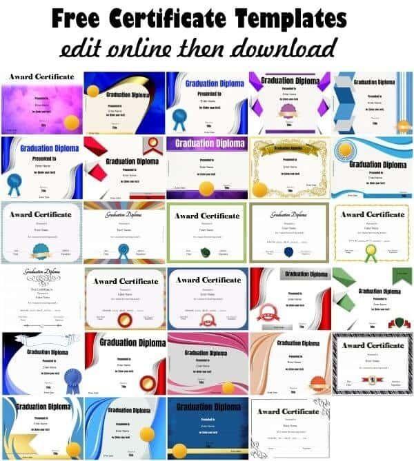 certificate templates Borders Pinterest Certificate, Free