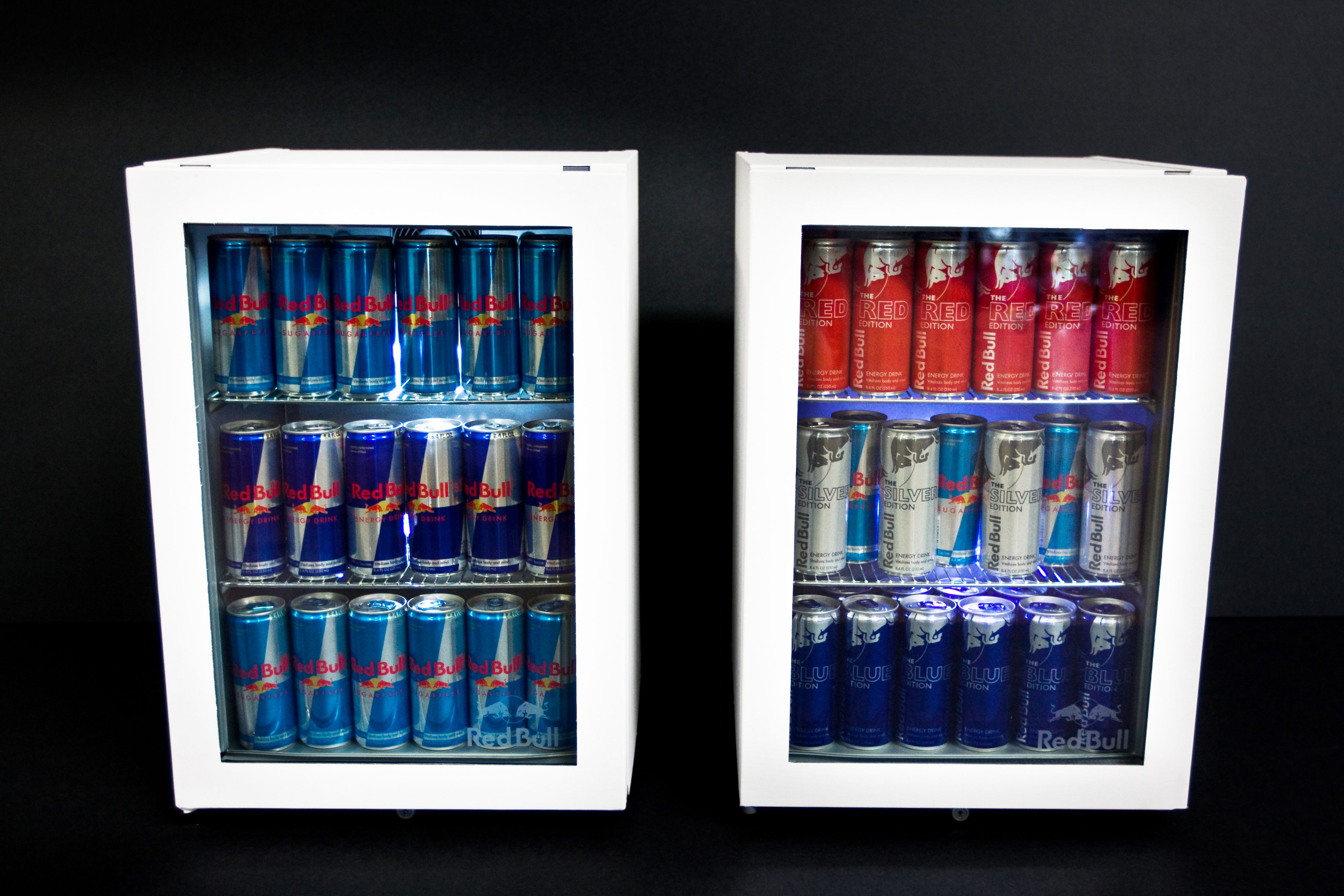 Kleiner Kühlschrank Red Bull : Red bull mini fridges wrapped in canvas these are just waiting