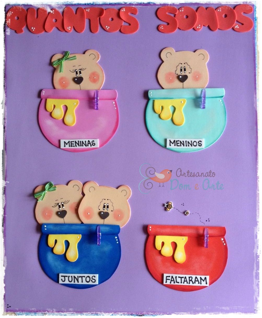Painel Quantos Somos Ursinhos Sala De Aula Decora Es De Sala E