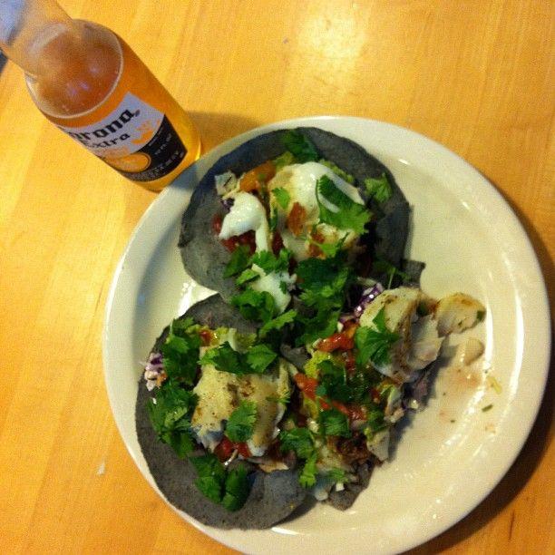 Yummy Fish Tacos on Blue corn tortillas #SundaySupper @judiknight
