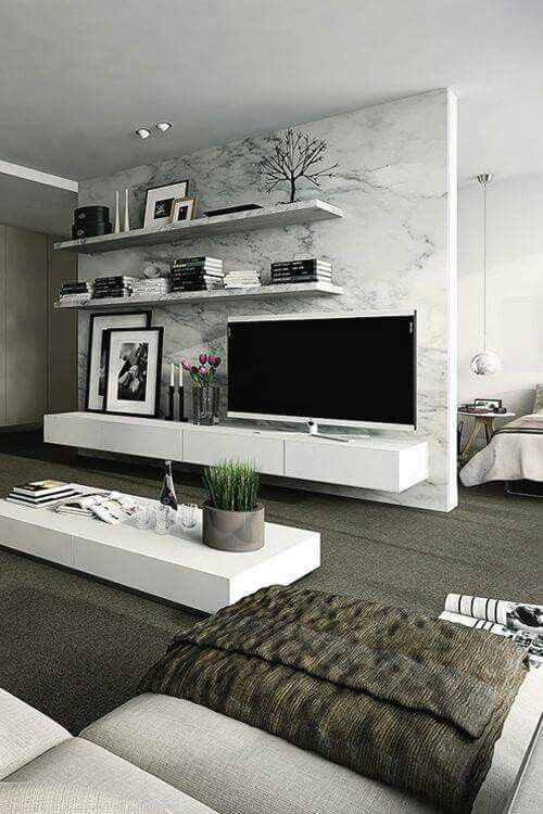 Ideas estupendas para muebles de tv | Deco living comedor ...