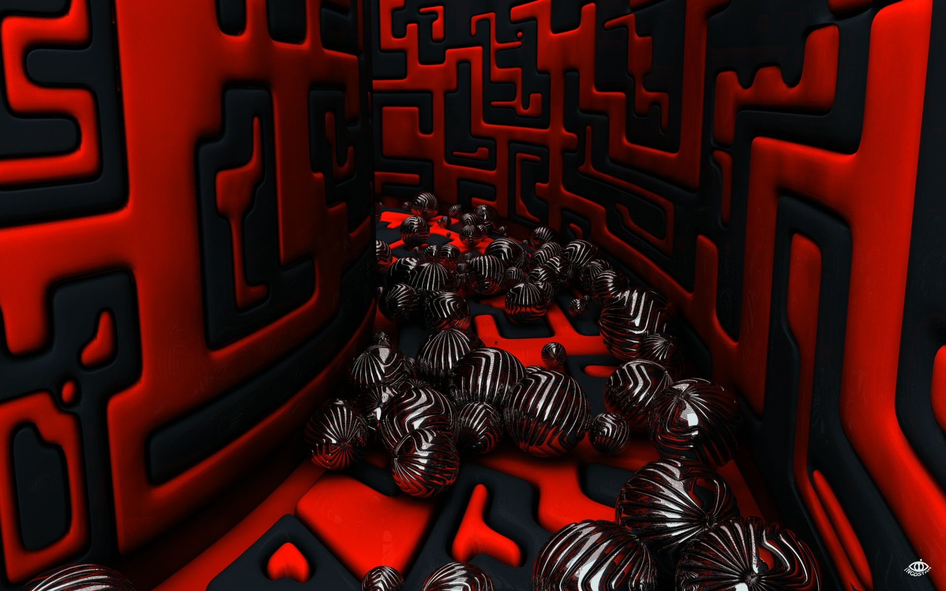 3d Red Black Spheres Hd Widescreen Desktop Wallpaper Red Wallpaper Red And Black Wallpaper Abstract Wallpaper Backgrounds